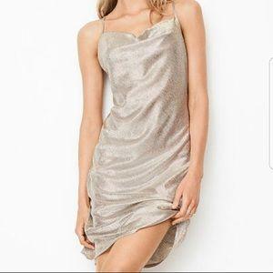 Victoria's Secret Dream Angels Silver Satin Slip